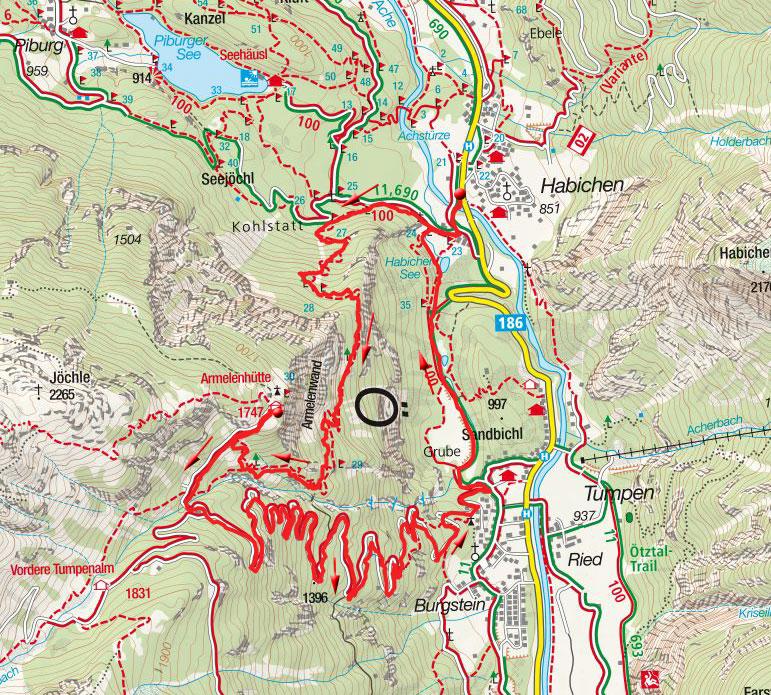 Armelenhütte (1747m) – Rundwanderung von Habichen