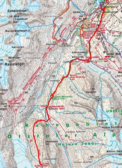 Obergurgler Drei Hütten Tour-Tag 1