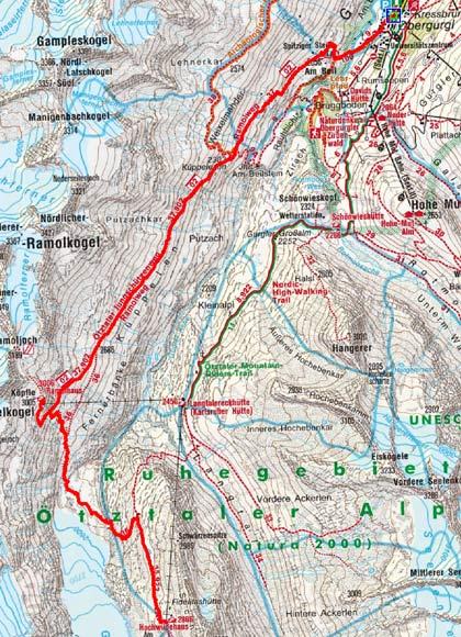 Obergurgler Drei Hütten Tour-Tag 2