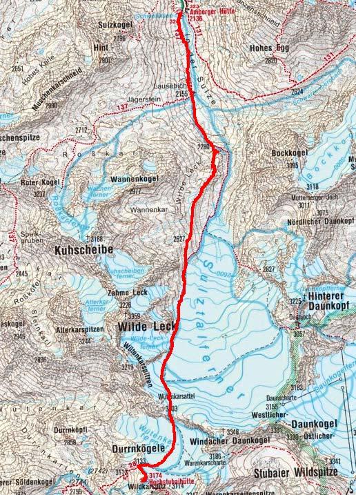 Tag 3: Von der Amberger Hütte über den Wütenkarsattel zur Hochstubaihütte