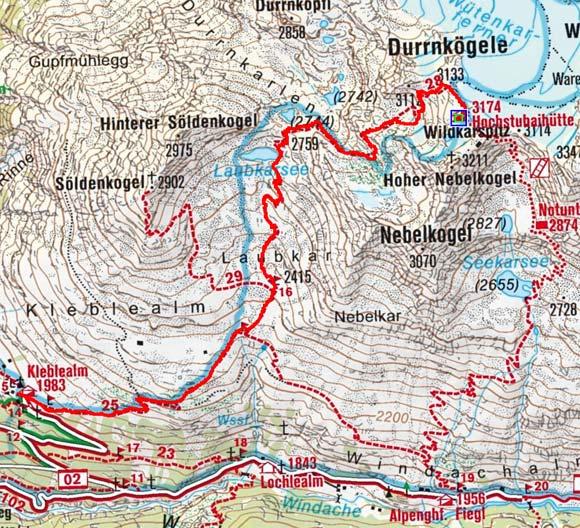Tag 4: Von der Hochstubaihütte durch das Laubkar hinab zur Kleblealm im Ötztal