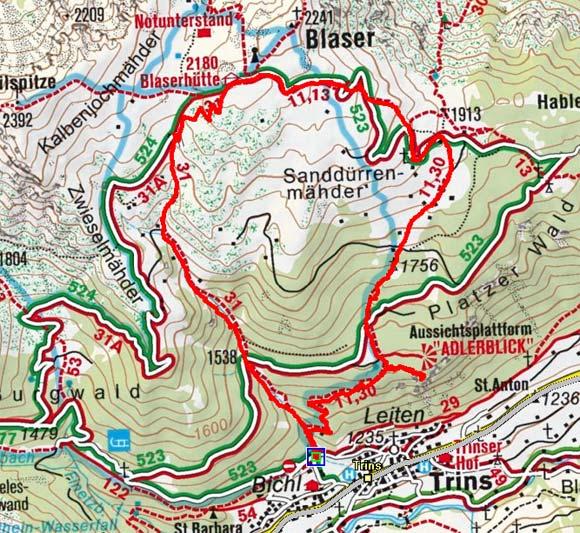 Blaser Hütte (2176 m) von Trins