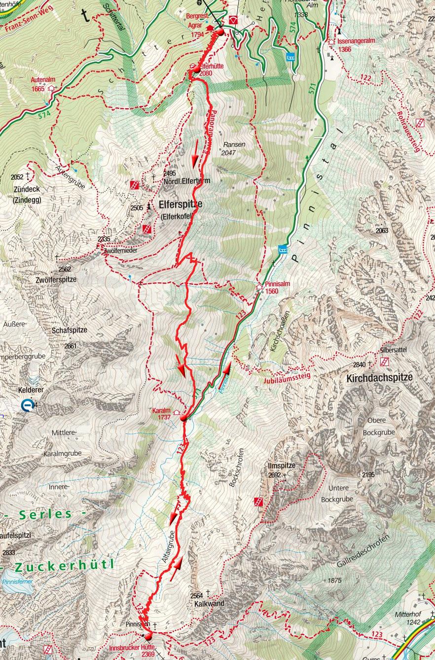 Innsbrucker Hütte, 2370m – Wanderung vom Elfer