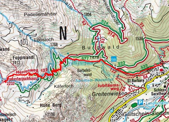 Padasterjochhaus (2232 m) von Trins