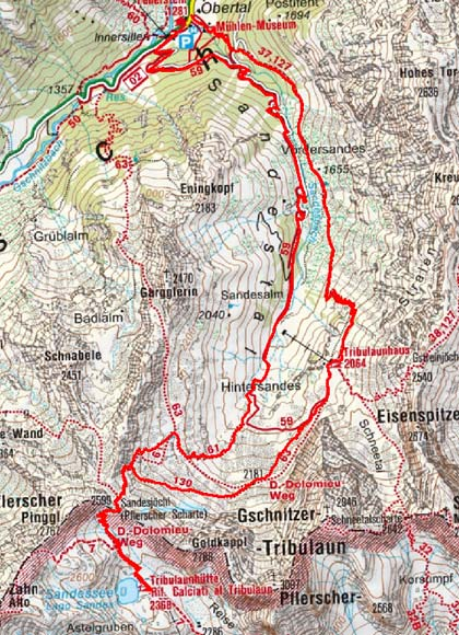 Tribulaunhütten - Rundtour