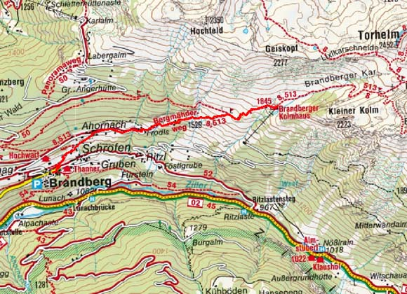 Brandberger Kolmhaus (1845 m) von Brandberg