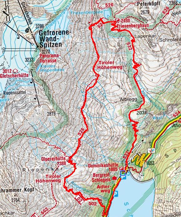 Friesenberghaus – Olpererhütte Rundwanderung