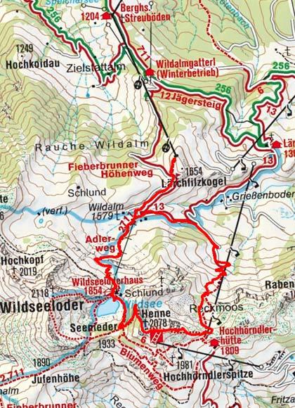 Henne - Klettersteig, 2.078 m