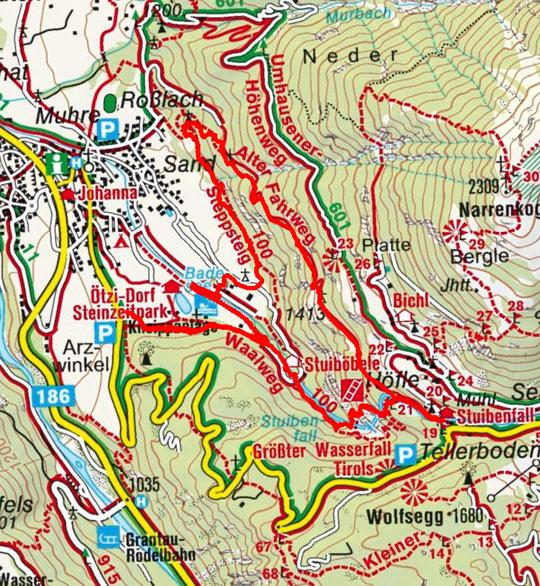 Stuibenfall Klettersteig im Ötztal