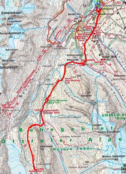 Inner-Ötztaler Hütten Runde Tag 1