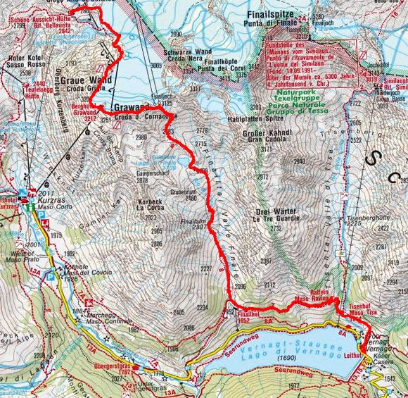Schnalser 4-Dreitausender Gipfelrundtour – Tag 1