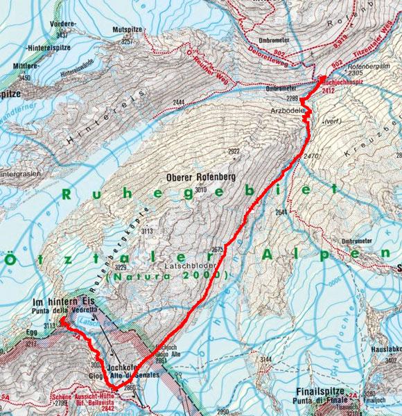 Schnalser 4-Dreitausender Gipfelrundtour – Tag 2
