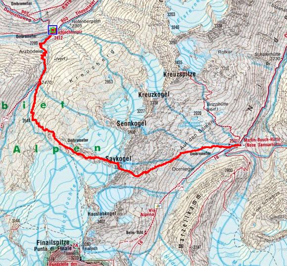 Schnalser 4-Dreitausender Gipfelrundtour – Tag 3