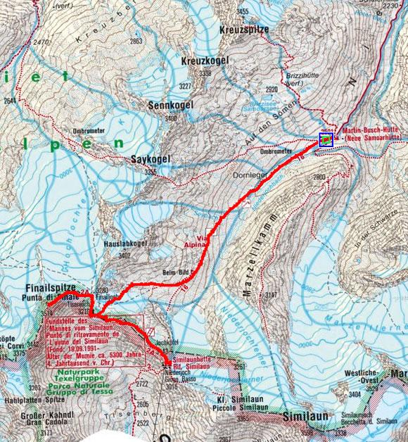 Schnalser 4-Dreitausender Gipfelrundtour – Tag 4