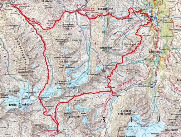 Sellrainer Hüttenrunde (5 Etappen)