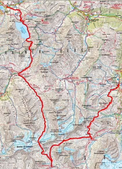 Sellrainer Hufeisentour (4 Etappen)