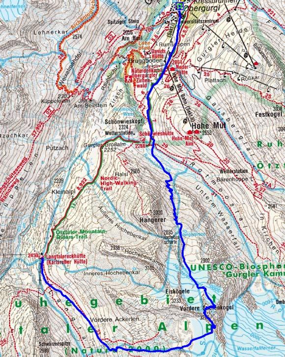 Große Ötztaler Skidurchquerung - Tag 1