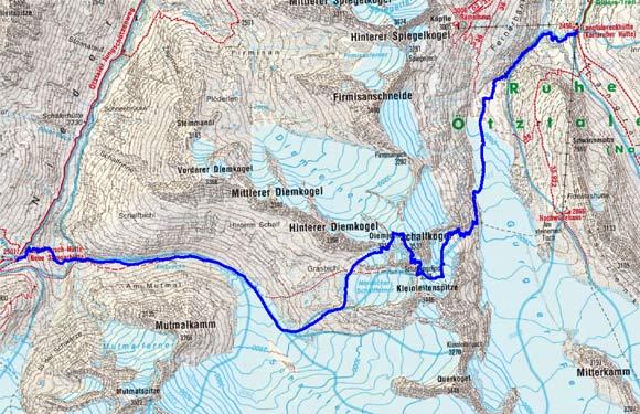 Große Ötztaler Skidurchquerung - Tag 2