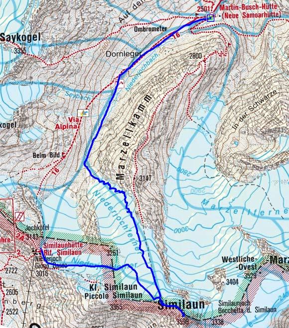 Große Ötztaler Skidurchquerung - Tag 3