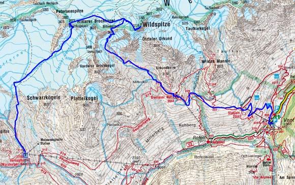 Große Ötztaler Skidurchquerung - Tag 6