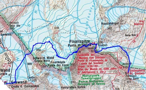 Schnalser Skirunde Tag 1 oder 2 - Finailspitze, 3514 m