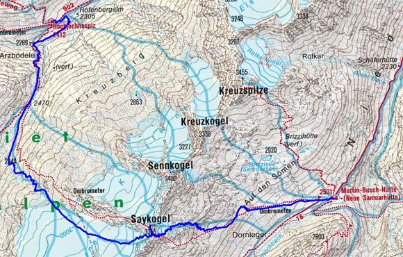 Schnalser Skirunde Tag 3 oder 4 - Saykogel, 3355 m