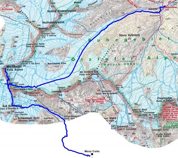 Schnalser Skirunde Tag 4 oder 5 - Weißkugel, 3739 m