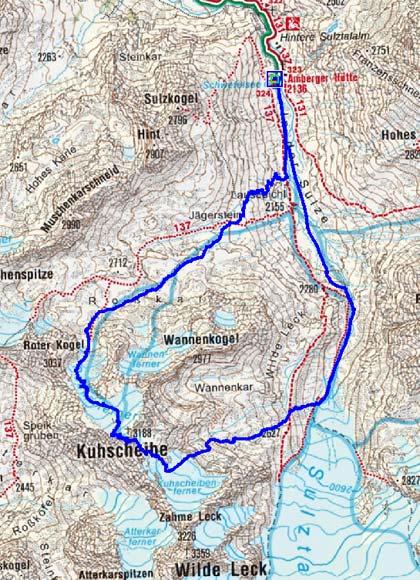 2.Tag: Amberger Hütte-Kuhscheibe-Amberger Hütte