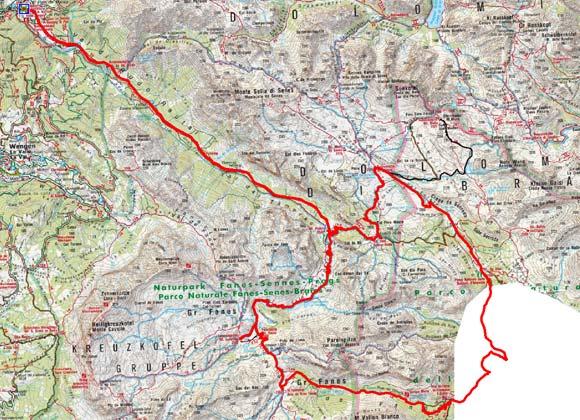 Große Naturpark Fanes-Fanes-Sennes-Prags Rundtour