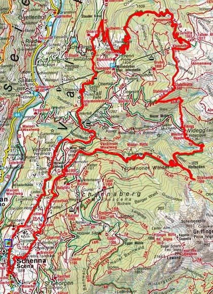 Hirzerhütte - Streitweideralm Rundtour