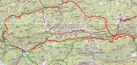 Blauberge Umrundung von Achenwald