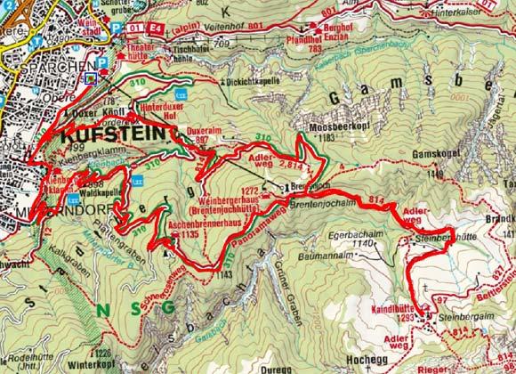 Kufstein - Kaindlhütte