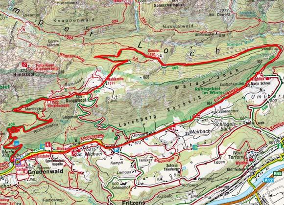 Gnadenwald - Ganalm - Walderalm