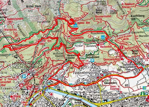Innsbrucker Panorama Rundtour