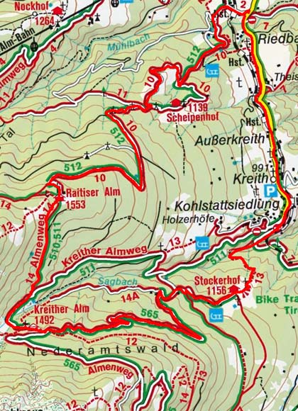 Kreitheralm - Stockerhof Rundtour