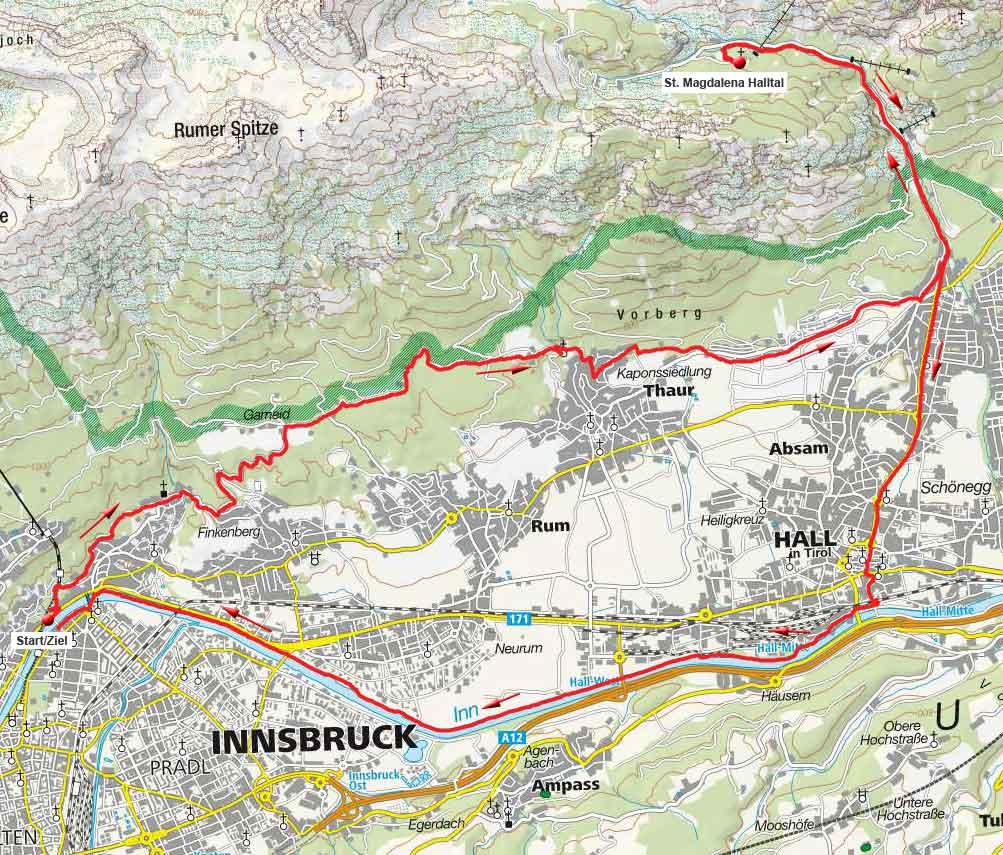 St. Magdalena Halltal von Innsbruck - Rundtour