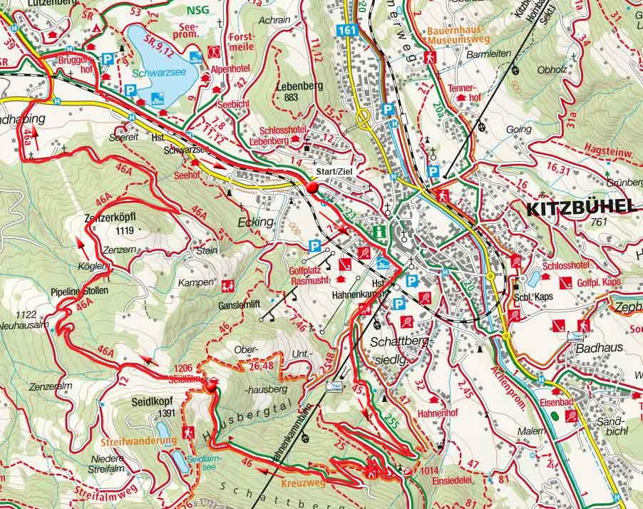 Seidlalm Rundfahrt von Kitzbühel