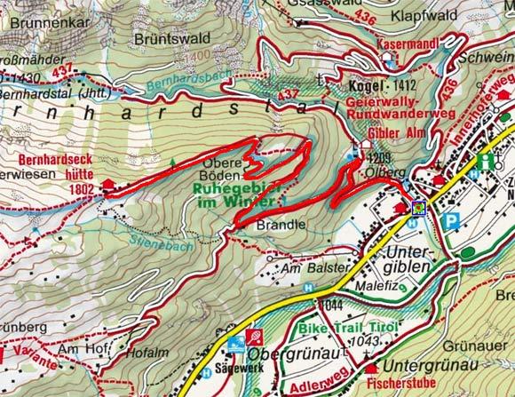 Elbigenalp - Gibler Alm - Bernhardseckhütte