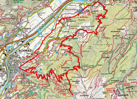 Gallzein - Proxenalm - Zintberg Rundtour