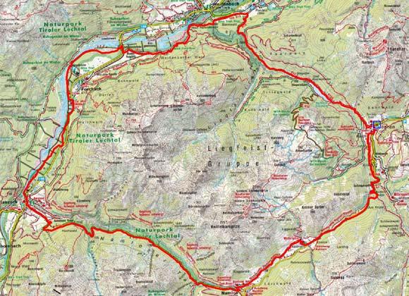 Rund um die Liegfeistgruppe, Lechtaler Alpen