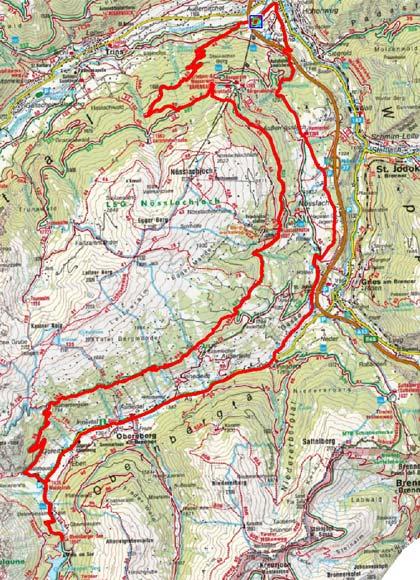 Obernberger Lärchenwiesenweg Rundtour