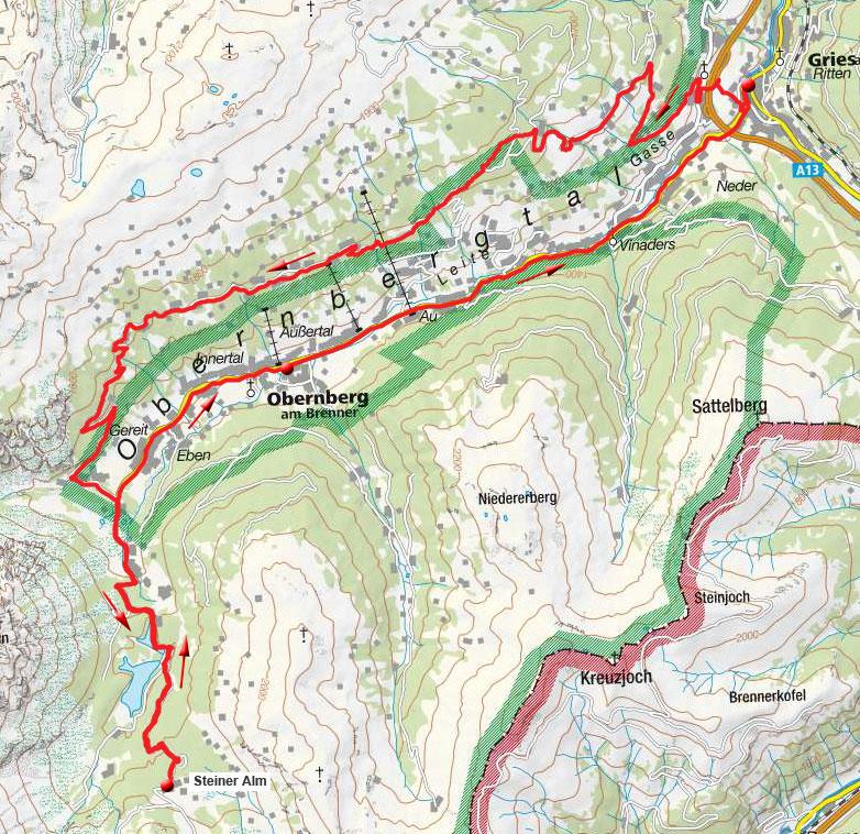 Über den Lärchenwiesenweg zur Steiner Alm