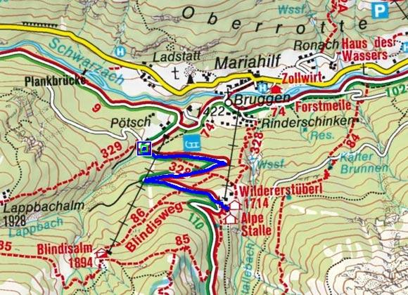 Alpe Stalle - Naturrodelbahn