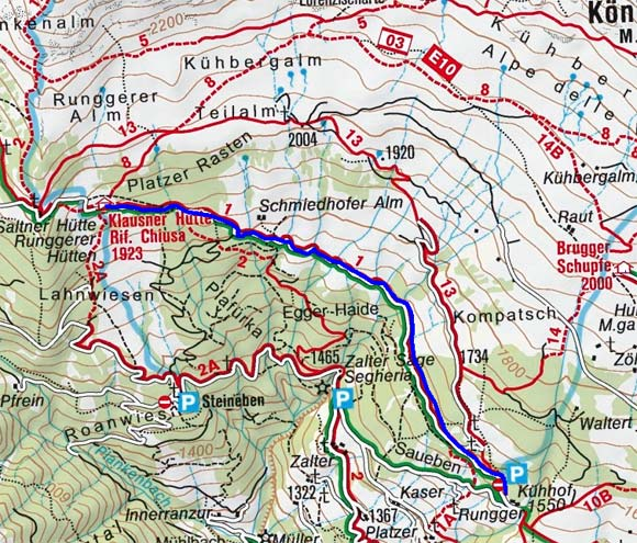 Klausner Hütte - Naturrodelbahn