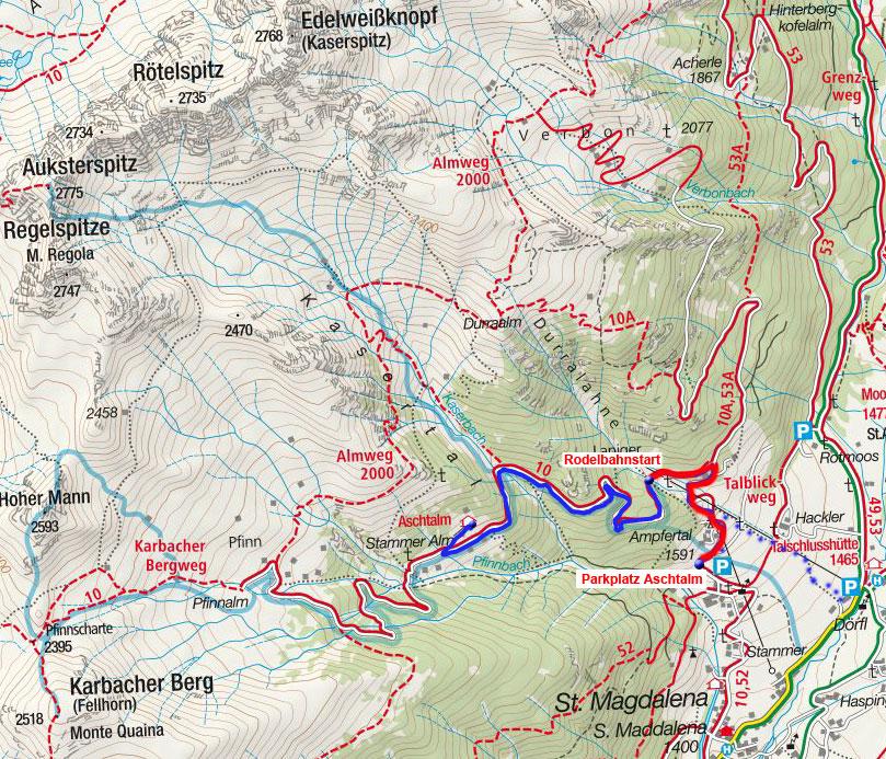 Ascht Alm - Naturrodelbahn