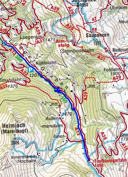 Faulbaumgartenalm - Naturrodelbahn