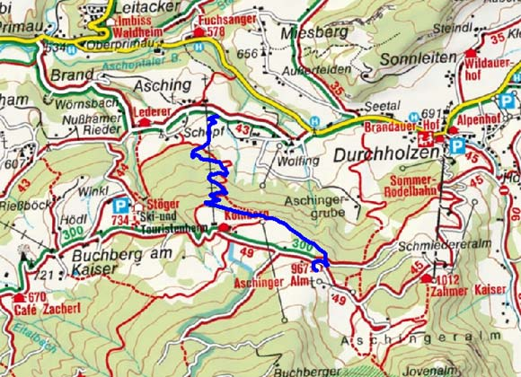 Aschinger Alm - Naturrodelbahn