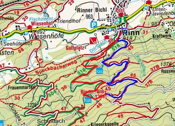 Rinner Alm - Naturrodelbahn