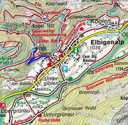 Gibler Alm - Naturrodelbahn