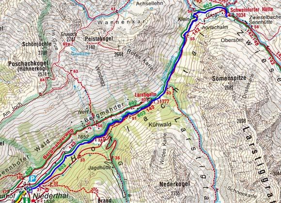 Schweinfurter Hütte - Naturrodelbahn